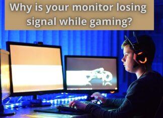 monitor losing signal while gaming