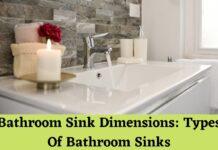 bathroom sink dimensions