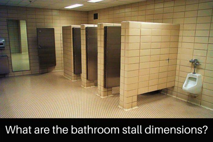 bathroom stall dimensions